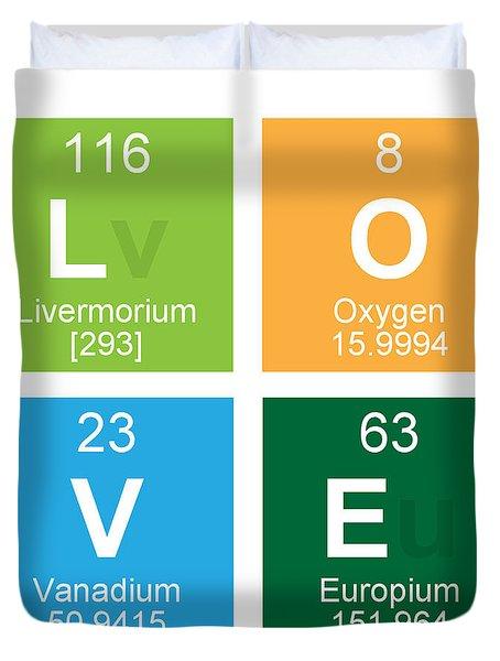 Periodic table duvet covers fine art america love periodic table duvet cover urtaz Image collections
