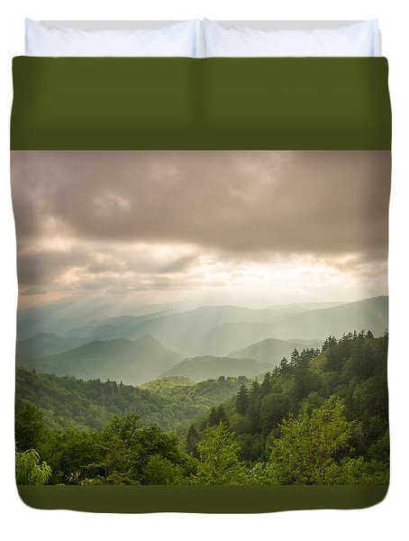 Duvet Cover featuring the photograph Love Shines Down by Doug McPherson