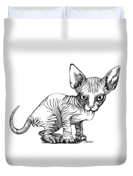 Love Sphynx Duvet Cover