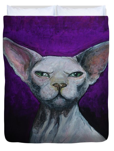 Love Sphynx Cat Duvet Cover