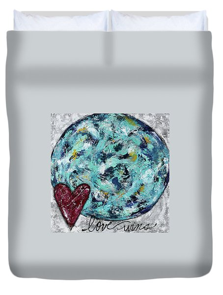 Love Wins Duvet Cover by Kirsten Reed