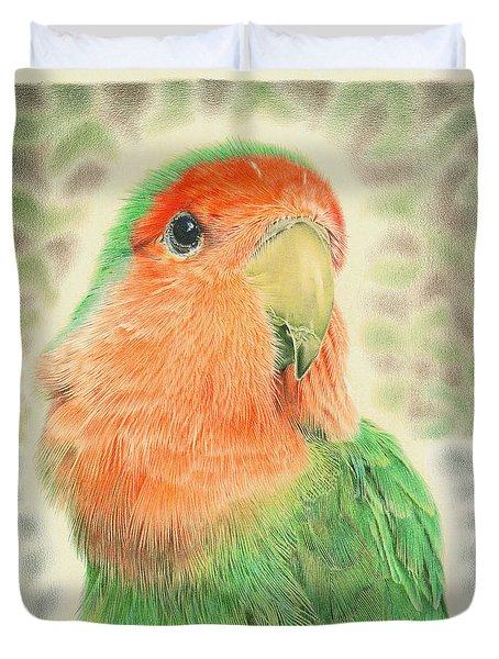 Lovebird Pilaf Duvet Cover