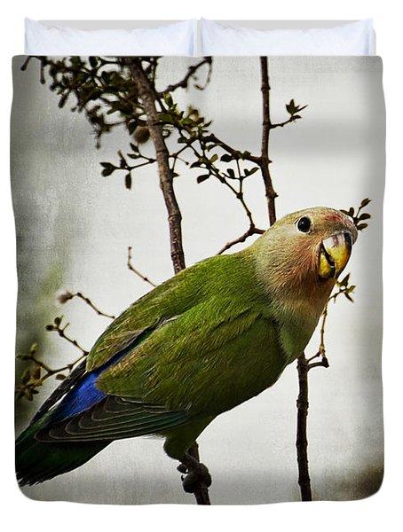 Lovebird  Duvet Cover by Saija  Lehtonen