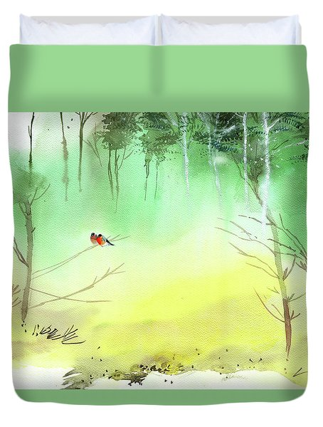 Lovebirds 3 Duvet Cover