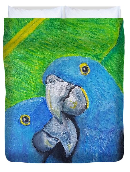 Lovebirds Duvet Cover