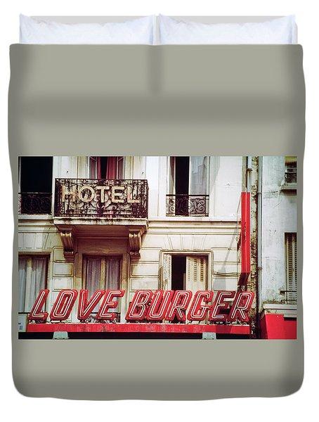 Loveburger Hotel Duvet Cover