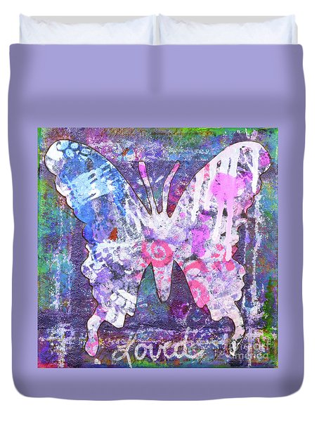 Loved Butterfly Duvet Cover