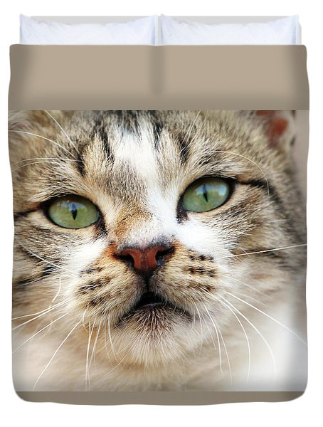 Duvet Cover featuring the photograph Loved by Munir Alawi