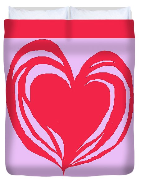 Loveheart Duvet Cover by Mary Armstrong