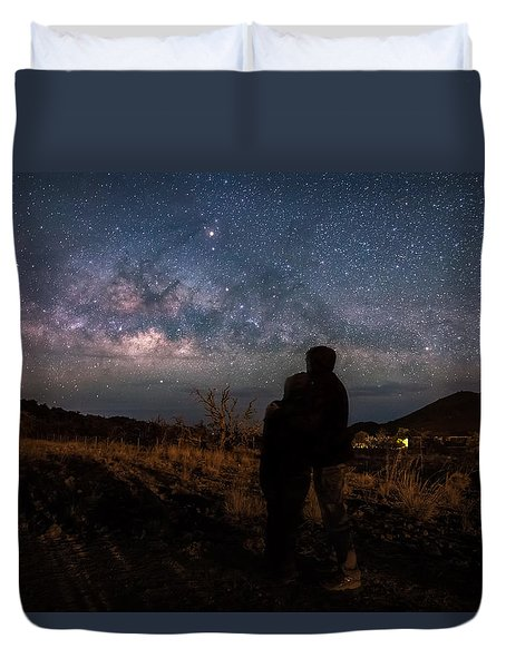 Loveing The  Universe Duvet Cover