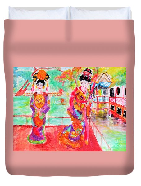 Lovely Asian Ladies Duvet Cover