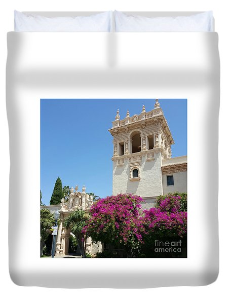 Lovely Blooming Day In Balboa Park San Diego Duvet Cover