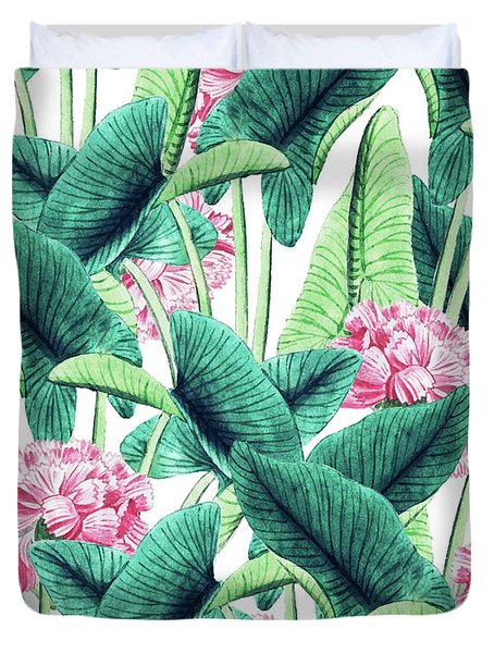 Lovely Botanical Duvet Cover