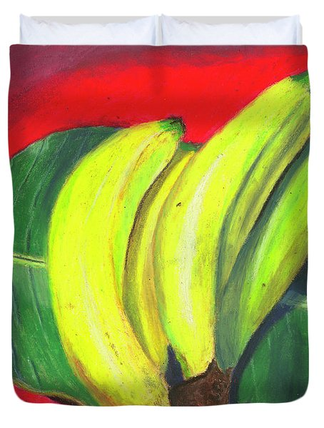 Duvet Cover featuring the painting Lovely Bunch Of Bananas by Arlene Crafton