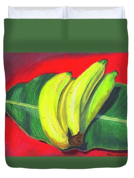 Lovely Bunch Of Bananas Duvet Cover