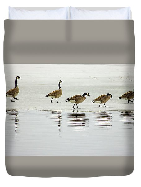 Lovely Day For A Stroll Duvet Cover
