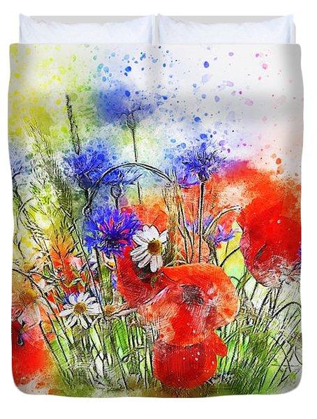 Watercolour Bouquet Duvet Cover