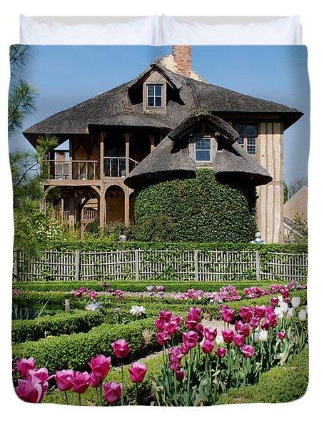 Lovely Garden And Cottage Duvet Cover by Jennifer Lyon