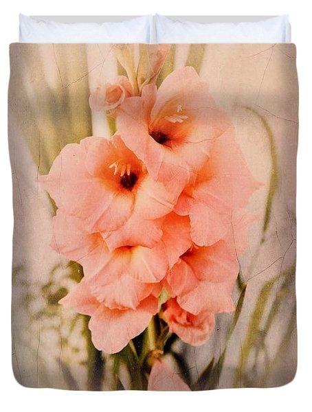 Lovely Gladiolus Duvet Cover