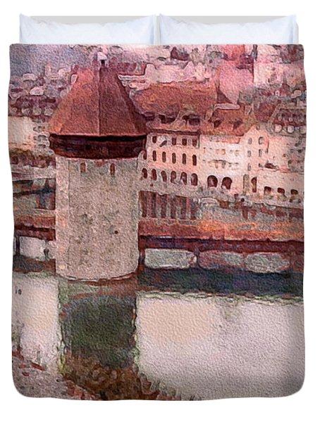 Lovely Lake Lucerne Duvet Cover by Susan Maxwell Schmidt