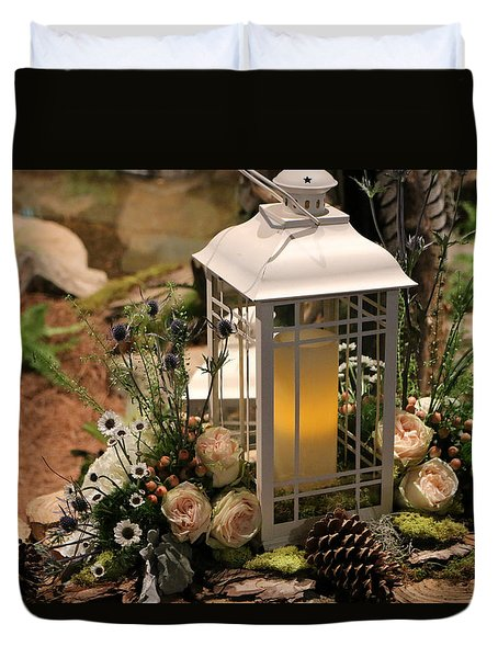 Duvet Cover featuring the photograph Lovely Lantern Light by Living Color Photography Lorraine Lynch
