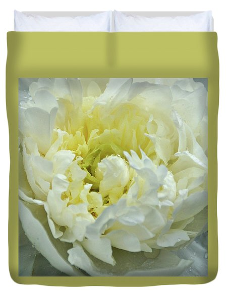 Duvet Cover featuring the photograph Lovely Peony by Sandy Keeton