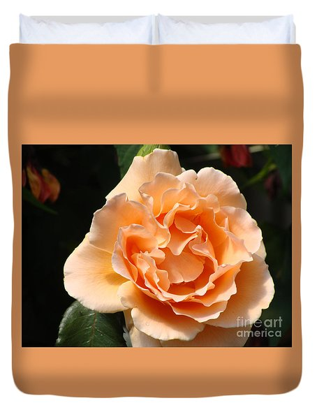 Duvet Cover featuring the painting Lovely Rose Flower by Rod Jellison