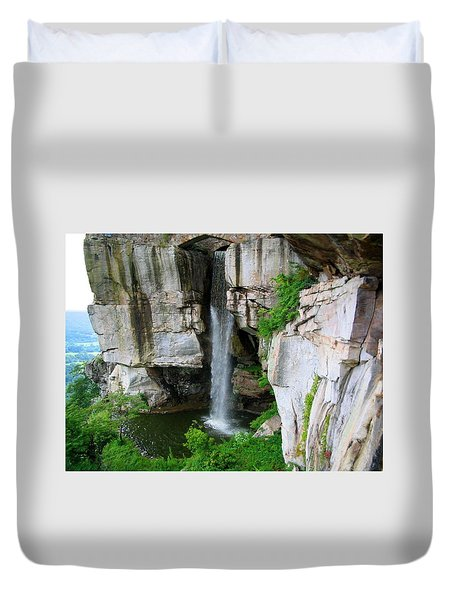Lover's Leap Waterfall Duvet Cover by April Patterson