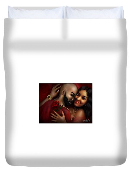 Lovers Portrait Duvet Cover