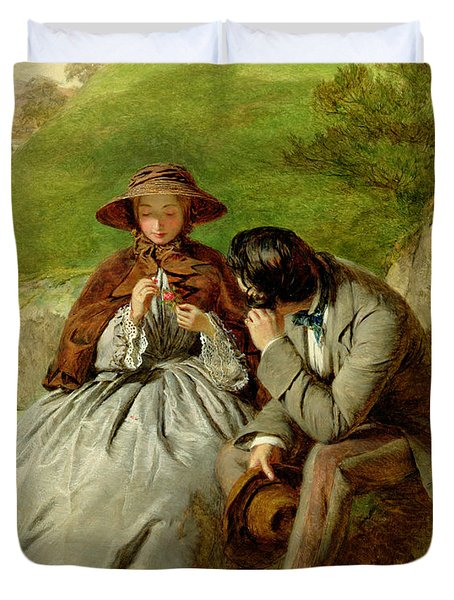 Lovers Duvet Cover by William Powell Frith