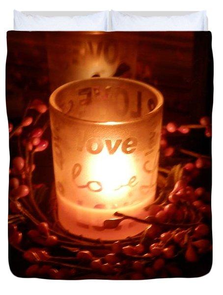 Love's Glow Duvet Cover