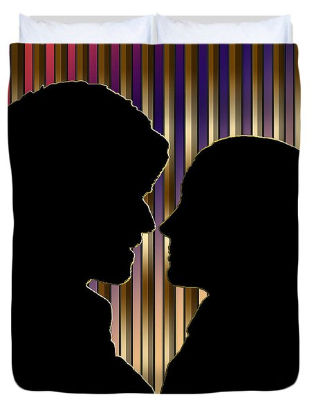 Duvet Cover featuring the digital art Loving Couple - Chuck Staley by Chuck Staley