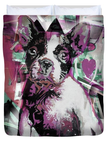 Loving Dog 66n Duvet Cover