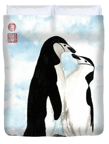 Loving Penguins Duvet Cover