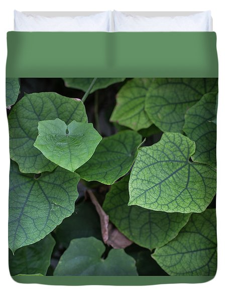Low Key Green Vines Duvet Cover