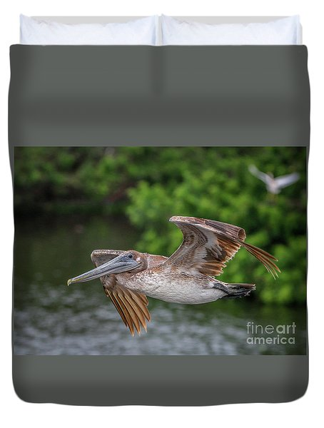 Low Pass Pelican #1 Duvet Cover