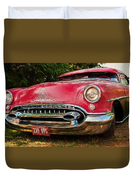 Low Rider Olds Duvet Cover