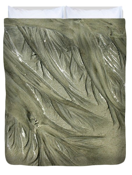 Low Tide Abstracts Iv Duvet Cover
