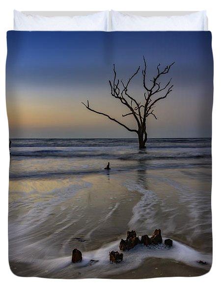 Low Tide At Botany Bay Duvet Cover
