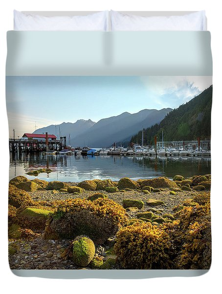 Low Tide At Horseshoe Bay Canada Duvet Cover by David Gn