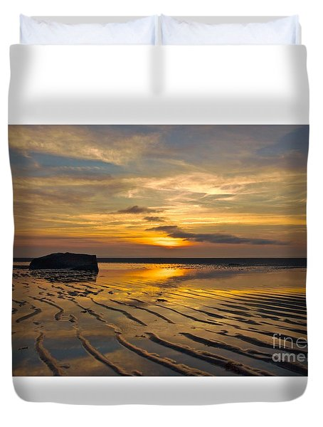 Low Tide At Mayflower Beach Duvet Cover by Amazing Jules