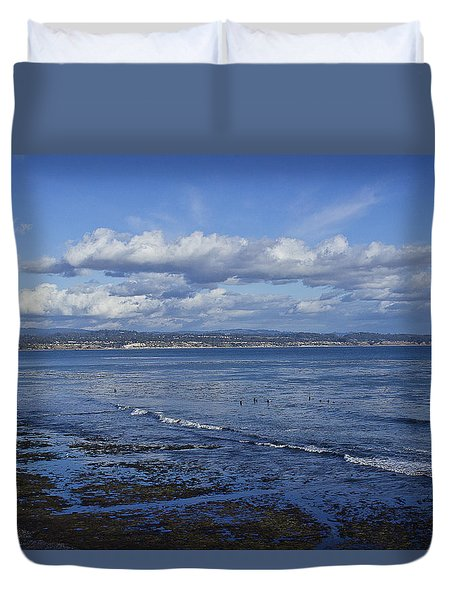 Low Tide At The Hook, Santa Cruz Ca Duvet Cover