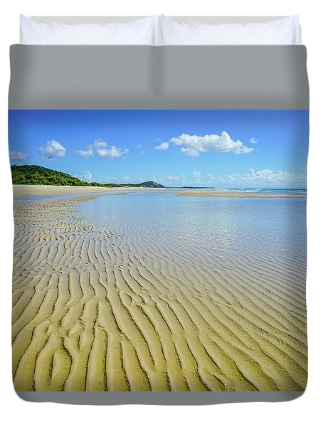 Low Tide Beach Ripples Duvet Cover