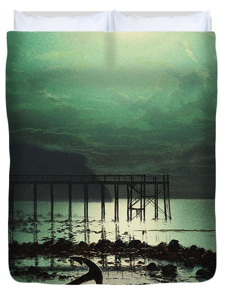 Low Tide By Moonlight Duvet Cover by WHJ Boot