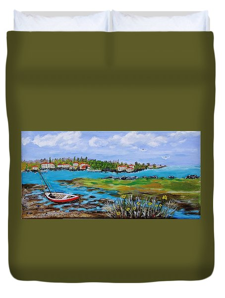 Low Tide Duvet Cover by Mike Caitham