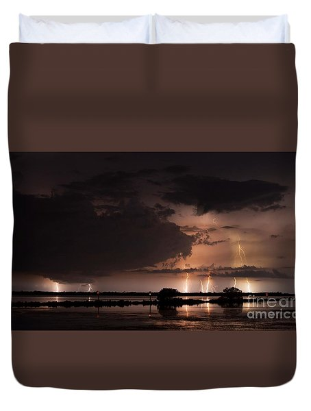 Low Tide With High Energy Duvet Cover