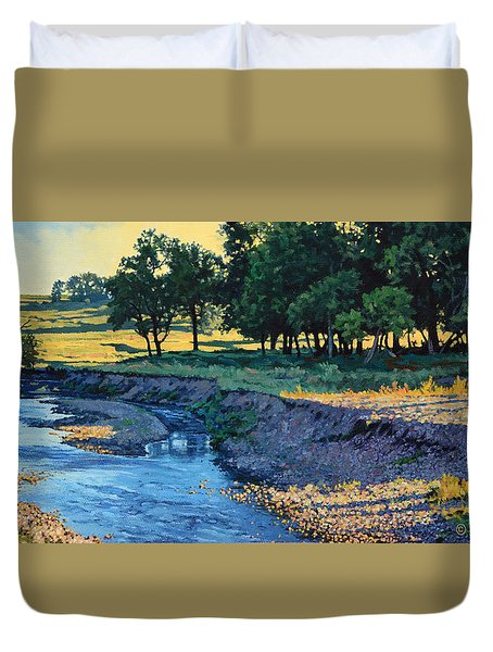 Low Water Morning Duvet Cover