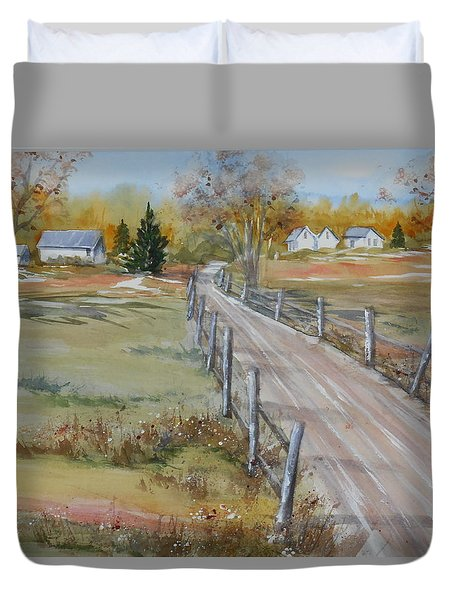 Lowcountry Road In Spring Duvet Cover
