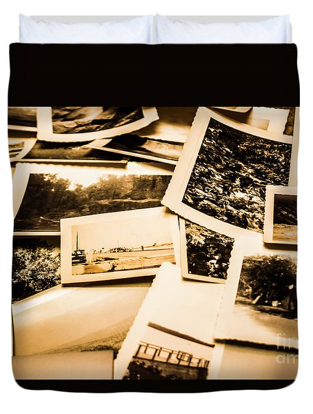 Lowdown On A Vintage Photo Collections Duvet Cover