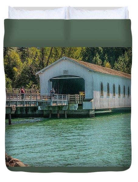 Lowell Covered Bridge Duvet Cover